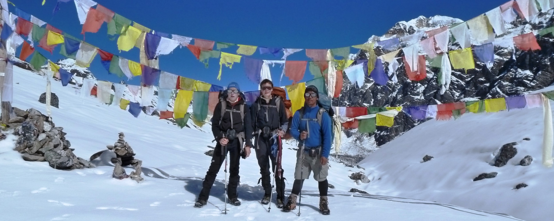 The Nango la pass in Kanchenjunga area