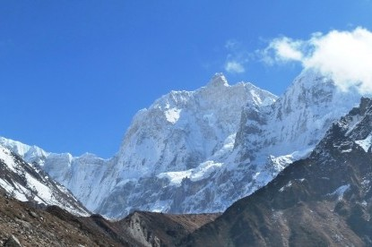 Impressive view of Jannu Himal in Kanchenjunga area.
