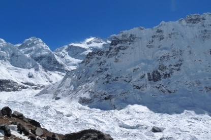 The glacier of North Kanchenjunga base camp