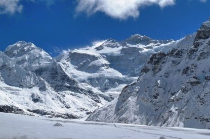 The view from Kanchenjunga north base  camp.
