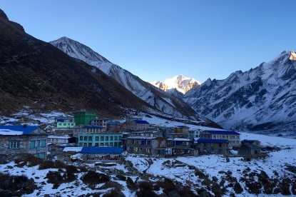 Kyangjin Gompa village(3800m) which is highest settlements in Langtang .