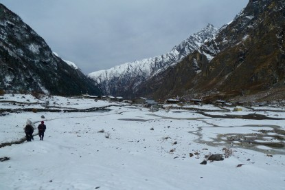 The old Langtang village before the earthquake.