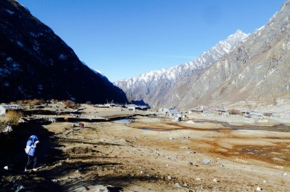 The Langtang village phot which was taken on March 2015.