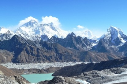 Gokyo lake with Mt. Everest view.