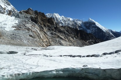The glacier at the Chola pass.