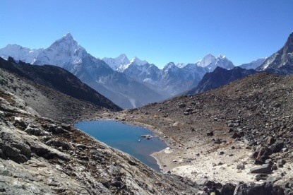 The lake near Lobuche high camp.