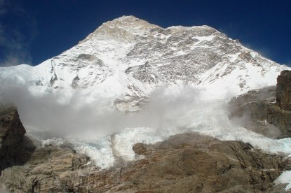 The Mt. Makalu(8463m) seen near by Base Camp.