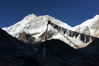 The view of Makalu from it's Base Camp.