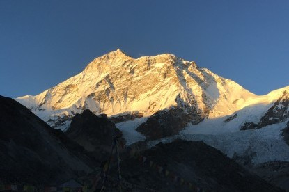 Sunset view over Mt. Makalu