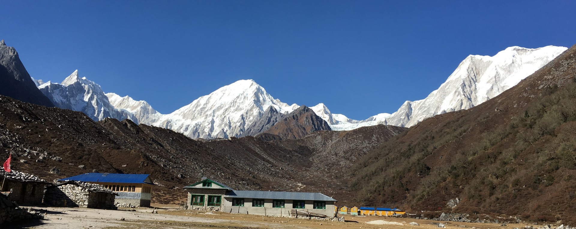 The mountain views from Bhimthang
