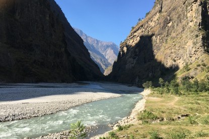Budhi Gandaki River valley at Yaru phant
