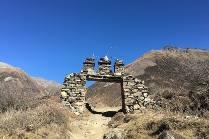 The stone gate near Samdo village.