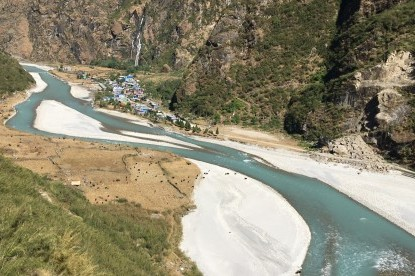 Tal village in the annapurna trail