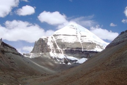 The South face of Mt. Kailash view from Asthapad.