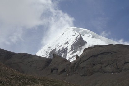 West face of holy Mt. Kailash