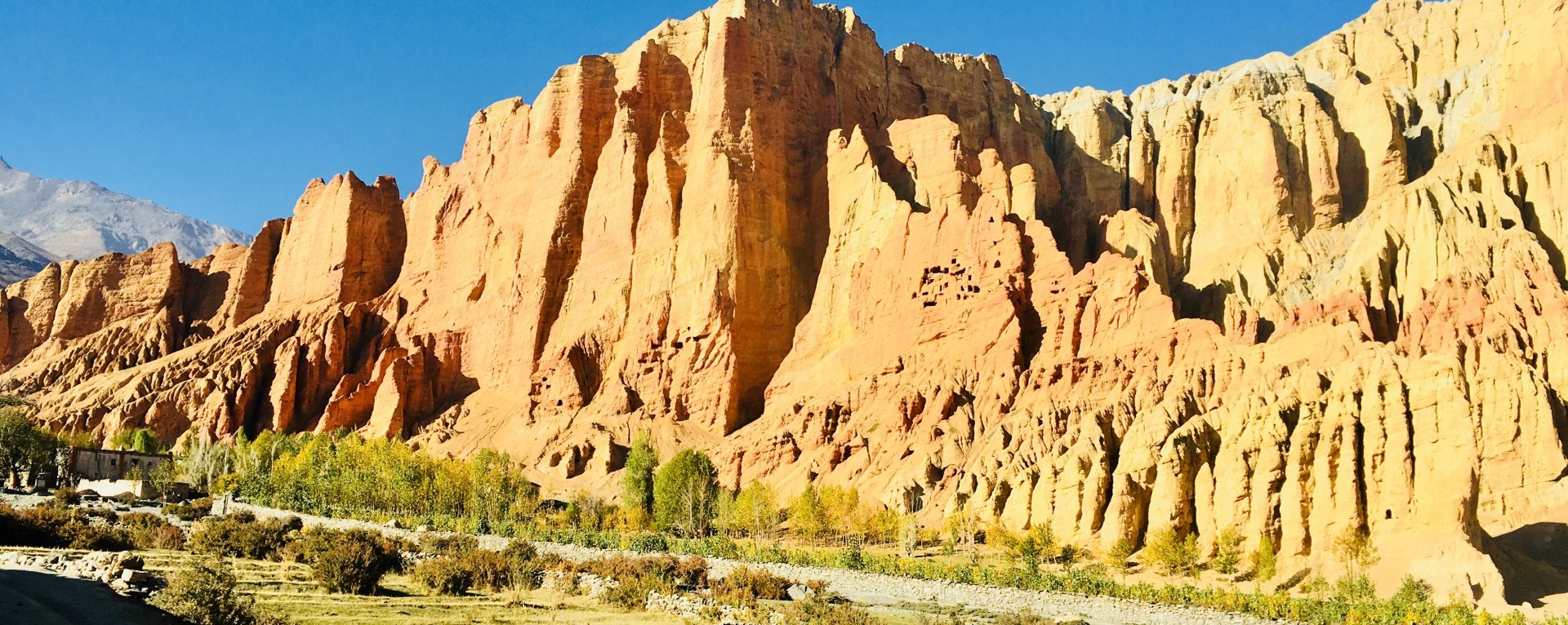 The red cliff of Dhakmar village.