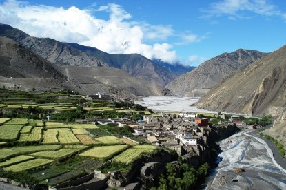 Kagbeni village which is the entrance of Mustang Area.