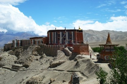 The monastery and stupa at Charang village.