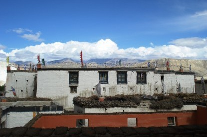 The houses in walled city of Lomanthang.