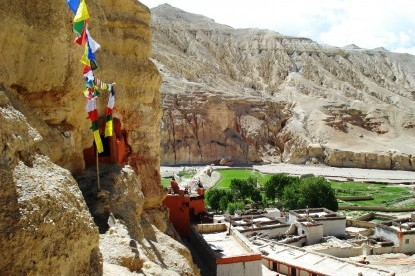 The cave monastery at chooser village.