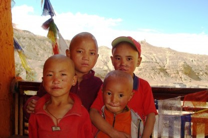 Young monks at Chhoser monastery.