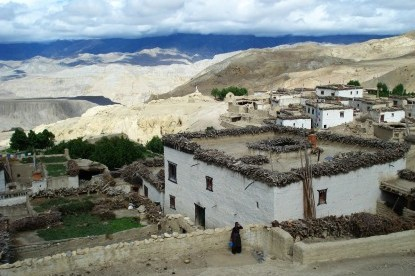 The village of yara in mustang.