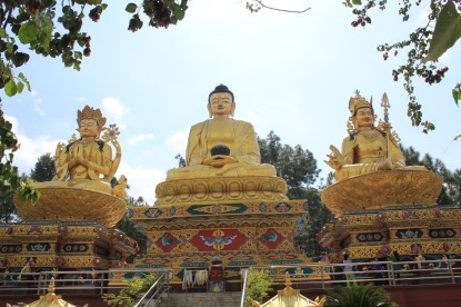 The statue of Bhuddha in Swoyambunath.