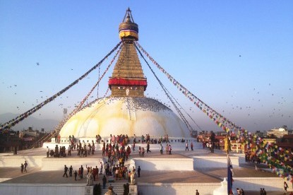 Boudhanath Stupa which is known as largest stupa in the world.