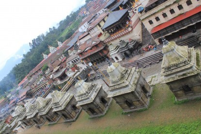 The shrines of Pashupatinath temple area.