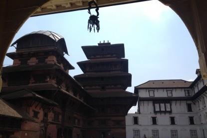 At Kathmandu Durbar square