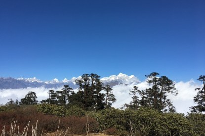 The view of Numbur Himal and others from Rolwaling region