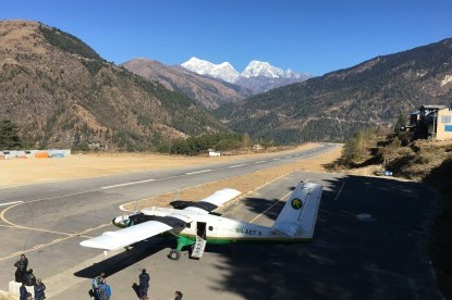 Phaplu airport which is the trek ending point of Pikey peak trekking