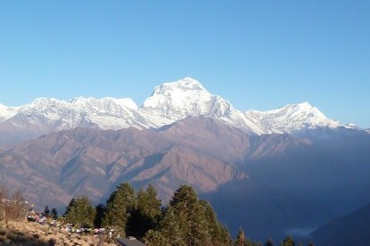 View of mt. Dhaulagiri and Tukuche peak from Poonhill.