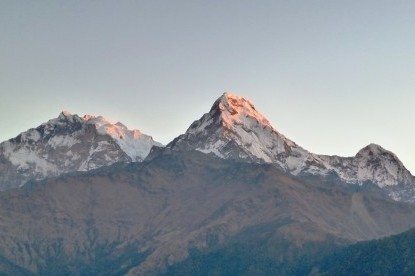 The view of Mt. Annapurna I (8091m), Annapurna south & Hiunchuli peak.