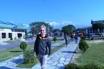 At Pokhara airport