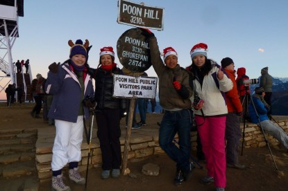 Our team of Poonhill trek during Christmas .