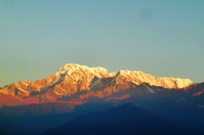 Sunrise view over annapurna ranges.