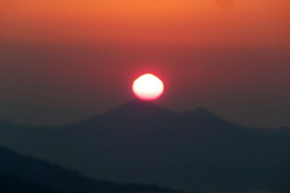 Sunrise view from Sarangkot hill, pokhara.