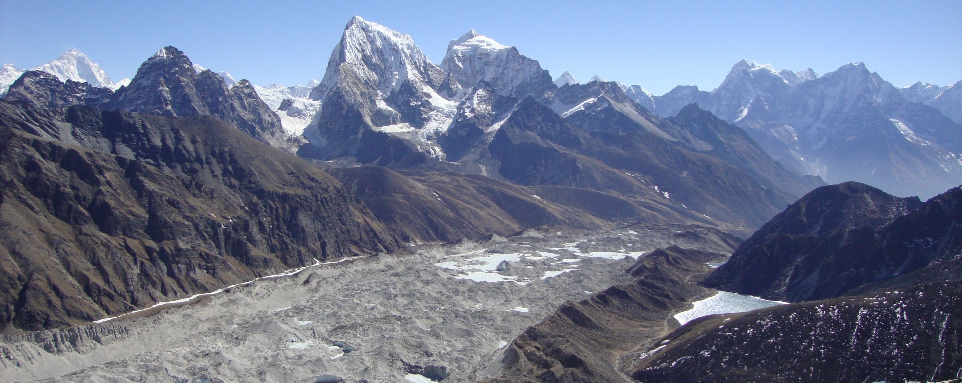 Everest Base camp at the altitude of 5364m.