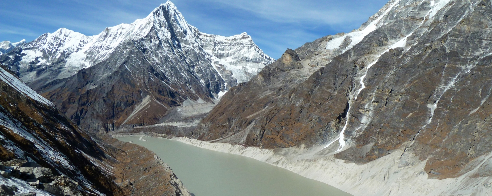 Tsho Rolpa lake in Rolwaling Valley.