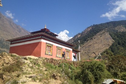 The Monastery at Simigaun, Rolwaling Valley Trek, Nepal