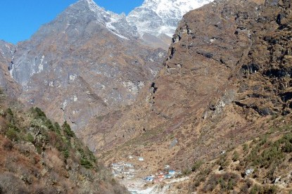 Beding village underneath Mt. Gaurishankar.