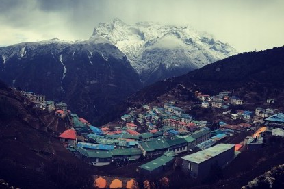 Namche bazaar, gateway to Mt. Everest.