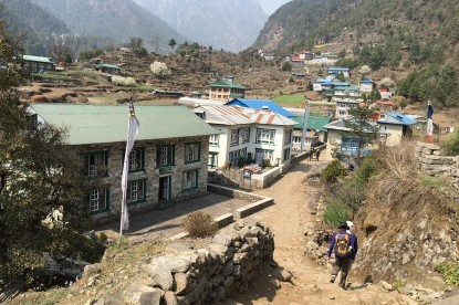 Prosperous Sherpa village of Ghat.