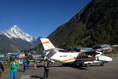 The airstrip of Lukla where we fly back to Kathmandu.