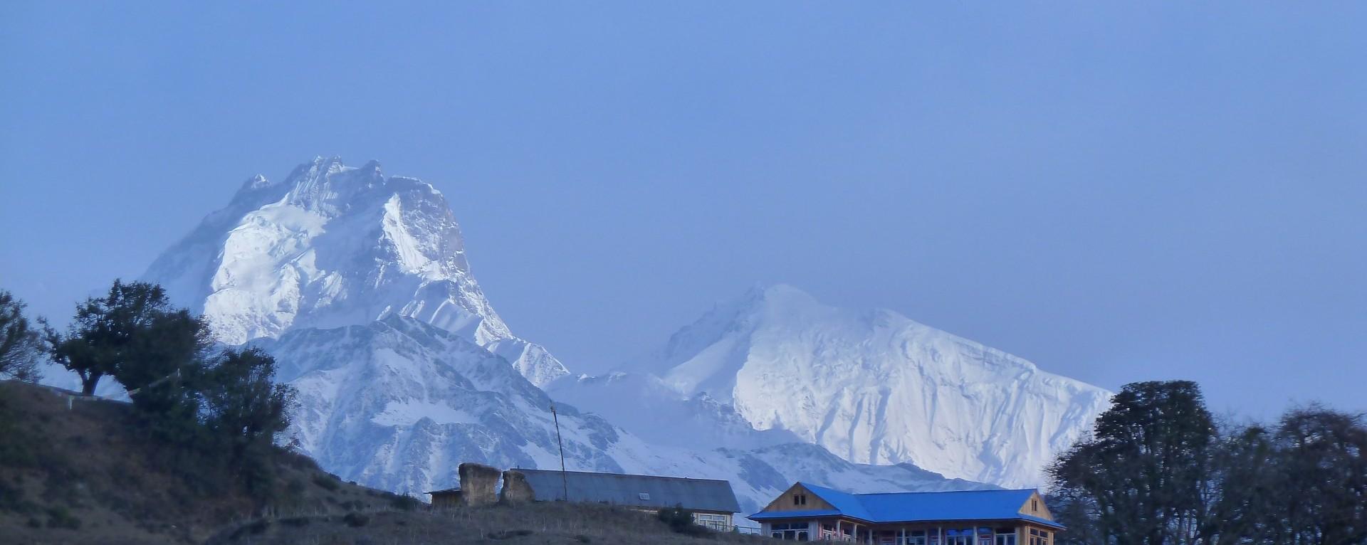 The view of Ganesh himal ranges from Nagthali.
