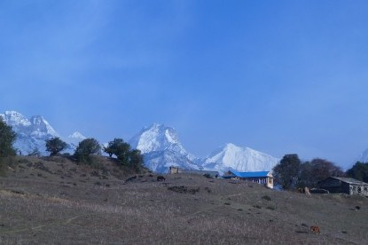 The view of Ganesh Himal Ranges from Nagthali viewpoint.