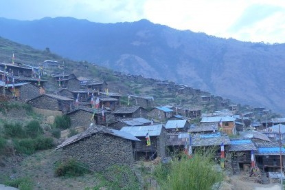 Thuman village, one of the biggest village during the Trek.