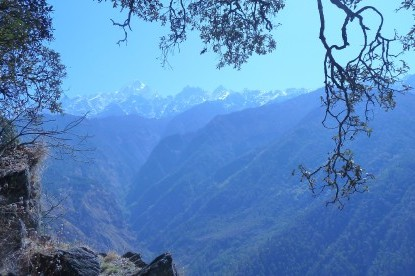 The Langtang himalayan ranges view from Tamang Heritage Trail Trek.