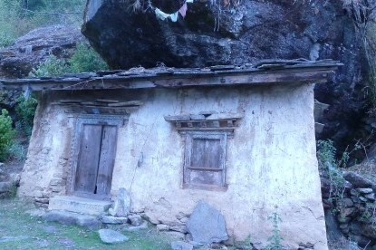 Very old cave monastery of Briddhim village, Tamang Heritage Trail trek.